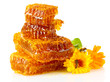 Sweet Honeycomb With Honey, Be...