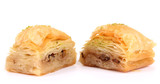 Sweet baklava isolated on white