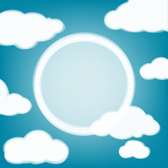Sky background with transparent clouds and place for the text.