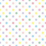 Seamless vector pattern background pastel colorful polka dots