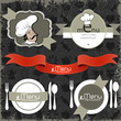 Restaurant menu and background design collection