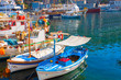 Greek island Hydra main Port iat Saronikos gulf