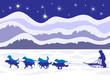 Musher and dog sled team