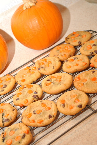 Pumpkin Cookies Cooling