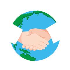 握手と地球