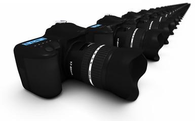 DSLR Konzept - Digitale Spiegelreflexkameras in Reihe 2