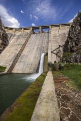 View of dam of Barrios de Luna, Leon, Spain