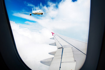 Aircraft out of the window