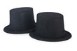 Cylinder hat isolated on the white