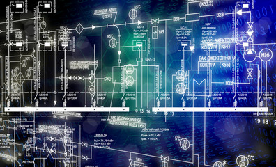 Engineering automation designing.Energy