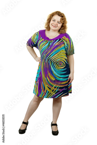 ugly woman over white background