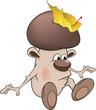 Mushroom the wizard cartoon