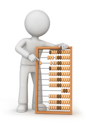 Men with abacus
