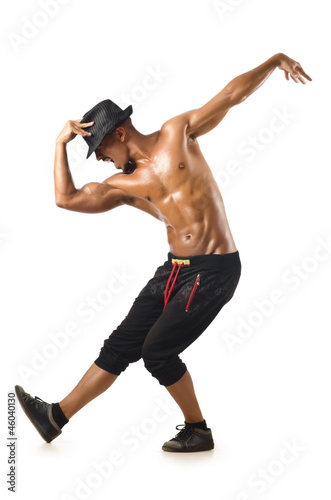 Funny dancer isolated on the white