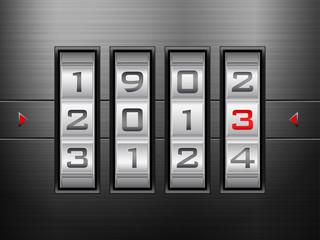 new year combination lock