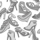 Fashion shoes seamless pattern for girls