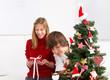 Bescherung - Kinder an Weihnachten