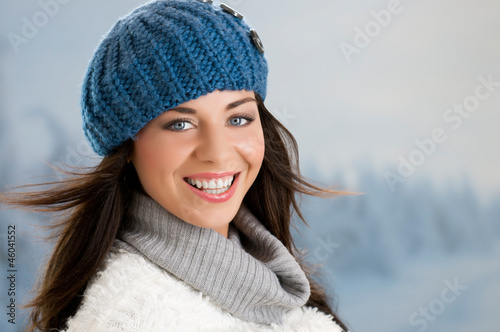 Happy winter girl