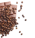 chocolate and coffee beans background