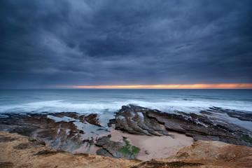 Tempestade na costa