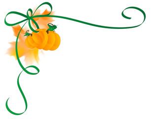 Ribbon and pumpkins