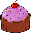 cup cake hand drawn