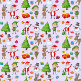 santa claus, gifts and reindeers