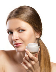 advertisement of cosmetic cream