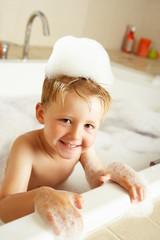 Boy Playing In Bath