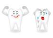歯のキャラクターイラスト