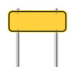 Blank yellow traffic sign