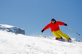 Freeride - man skiing downhill