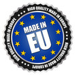 "Button ""Made in Europe"" - EU - Blau/Gelb"