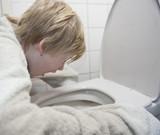 Young boy feel sick