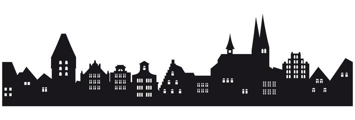 Historische Stadtkulisse - freigestellt