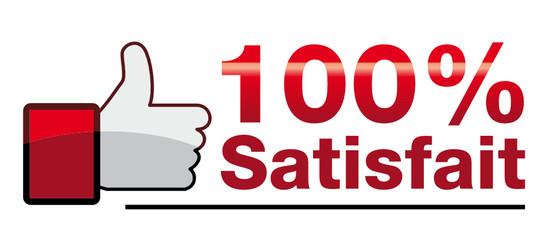 Icône 100% satisfait