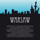 Fototapety Vector background with Warsaw