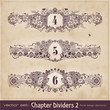 retro floral chapter dividers 2 (series)