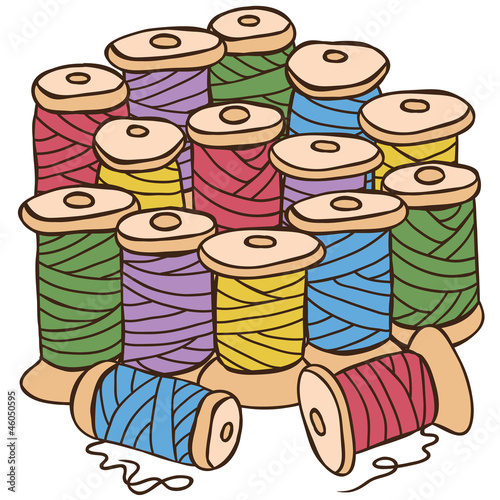 Illustration of colored threads