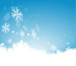 Schneeflocken, Hintergrund, Weihnachten, blau