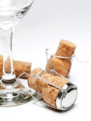 Glass and corks