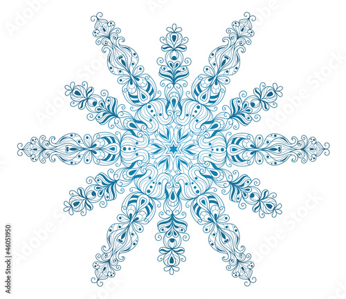 Isolated snowflake.