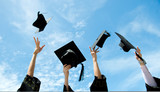 throwing graduation hats