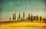 Fototapety vintage tuscan landscape