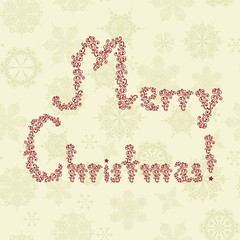 """""""Merry Christmas"""" Greeting on Seamless Pattern"""
