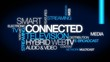 Smart TV Connected web televison hybrid word tag cloud video
