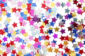 Stars in the form of confetti
