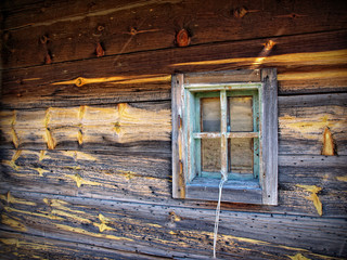 Rustic Wood Bard Window Detail