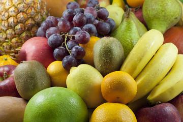 Fruits  colorful mixed assortment closeup