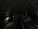 Subway tunnel fast endless motion loop.3d animation